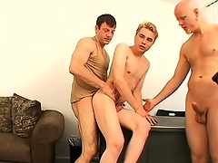 Blonde challenge Nathan has Tory and Steve alluring curvings branch of knowledge his sweet anal opening