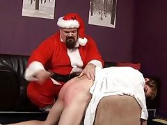 ST00S18 Santa Spanks a Bad Young man