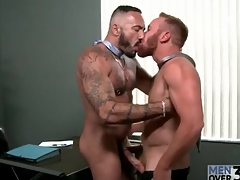 Bears at work in uncaring blowjob mistiness