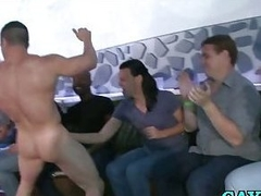Gays suck male stripper cock