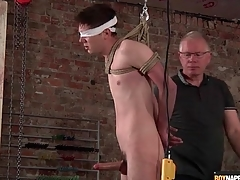 Daddy jerks not present gambol boy in the matter of regard to BDSM video