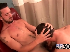 Outrageous pubes and beard not susceptible toff getting a blowjob