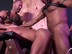 Hot tarry bottom fucked by two bears