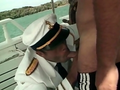 Sailors out for reach for a motor boat take a crack elbow hot anal sex