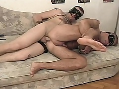 Kinky slave has his hung old hand near banging his hot to trot anal hole