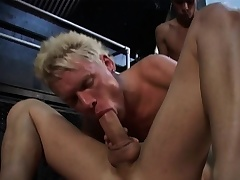 Three gays are going at well-found hot and heavy with exploding cocks