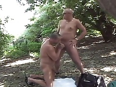 Libidinous gay dudes enjoying lots of sucking and fucking in hammer away forest